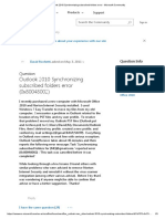 Outlook 2010 Synchronizing Subscribed Folders Error - Microsoft Community
