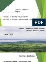 planificación turística sobre la zona de miches
