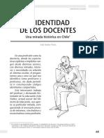 N Ez IV n 2004 La Identidad de Los Docentes. Una Mirada Hist Rica en Chile