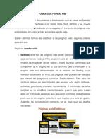 Formato de Paginas Web