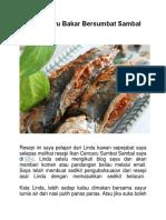 Ikan Cencaru Bakar Bersumbat Sambal