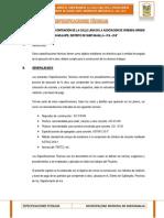 ESPECIFICACIONES TECNICAS SNIP15