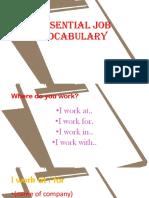 Essential Job Vocabulary