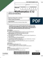 June 2014 IAL QP C12 Edexcel