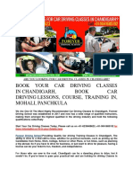 Are You Looking for Car Driving Classes in Chandigarh