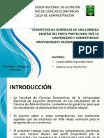 Competencias Genéricas de La Universidad y Las Valorizadas Por Las Empresas Privadas