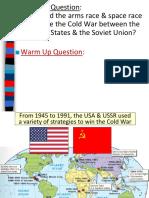 cold war arms race space race cuban missile crisis  1