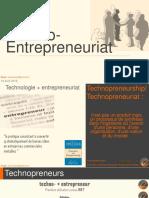 CULTURE D'ENTREPRISE _ Techno-entrepreneuriat Et Technopreneur
