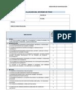 Criterios de Evaluación Del Informe de Tesis Dpi