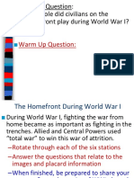 total war on the homefront in wwi  1