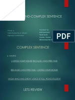 Compound-complex Sentence Bismillah