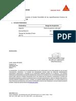 Certificado de Calidad Sikaflex 1A