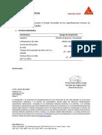 Certificado de Calidad Sikaflex 11 FC+