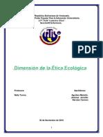 Dimension Etica Ecologica Terminado