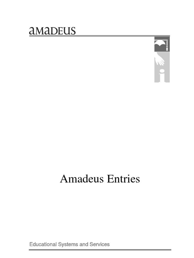 Amadeus Entries | Code | Airlines
