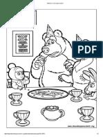 Masha e o Urso Para Colorir