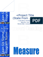 Lean Six Sigma Measure Phase Tollgate Template