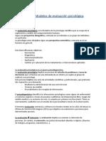 TEMA 1 Introduccion Evaluacion Psicologica