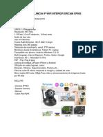 Cámara de Vigilancia Ip Wifi Interior Sricam Sp005