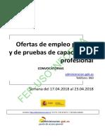 BOLETIN SEMANAL CONVOCATORIA OFERTA EMPLEO PUBLICO DEL 17 AL 23 DE ABRIL DE 2018.pdf