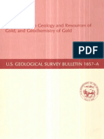 IIntroduction to Geology and Resources of Gold, And Geochemistry of Gold