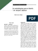 Análisis de Metodología Para El Diseño de Tanques Sépticos