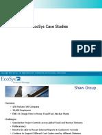 EcoSys Case Studies