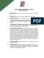 DIPLOMADO EN GERENCIA DE PROYECTOS CULTURALES PARA LA SOCIEDAD CIVIL