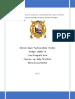 Informe Ciudad Global