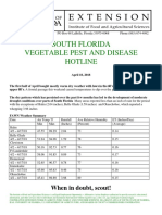 South Florida Vegetable Pest and Disease Hotline 4.18.18