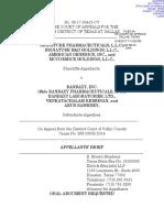 Signature v. Ranbaxy - Appellant Brief