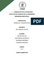 TRABAJO DE PRONÓSTICOS - CASO COOKIES