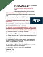 Tratados Multilaterales Suscritos Por El Peru Sobre Extradicion Que Se Encuentran Vigentes