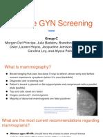 routine gyn screening