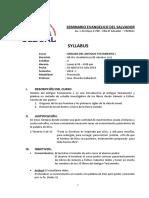 Syllabus Analisis Del Antiguo T. I 2018