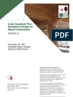 Code Compliant Fire-Resistance Design for Wood Construction