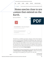 7 Homo Species Close to Present HumanThat Existed on the Earth
