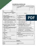 Majis Industrial Services SAOC - Vendor Application Form