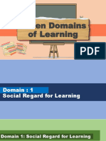 Seven Domain of Learning