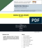 Iglesia San Lazaro Trabajo de Investigacion Arqp2