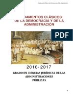 Apuntes Fundamentos Clásicos de La Democracia y La Administración - Bl. 1 Al 3