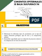 Yacimientos Epitermales de Baja Sulfuración