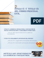 TITULO VI y Titulo Vii Del Código Procesal