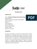 PSI4329-01 Opt. Perspectivas en Cognitivo - Jorge Kusanovic