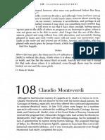 Monteverdi Letter & Prefacio VIII Livro de Madrigais de Monteverdi