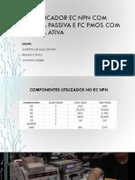 Amplificador EC NPN Com Carga Passiva e FC
