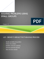 chapter 10 ppt solving problems using small groups