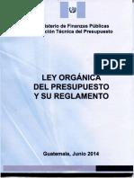 Ley Organica Del Presupuesto Actualizada