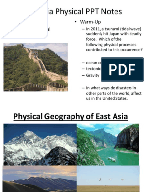 east asia geography ppt | Mountains | Asia
