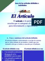 Uso de Los Articulos Definidos e Indefinidos1